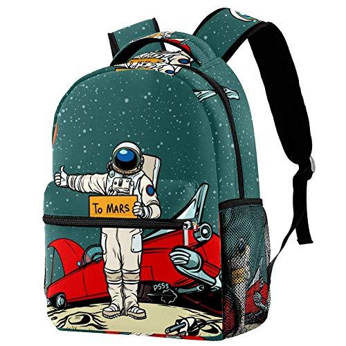 Shiiny Car Broke Down In Space Astronaut Hitchhiker Kinder Sporttasche Rucksack Daypack Kindergarten Schule für Jungen Mädchen