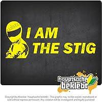私はスティグです I am the Stig 20cm x 9cm 15色 - ネオン+クロム! ステッカービニールオートバイ
