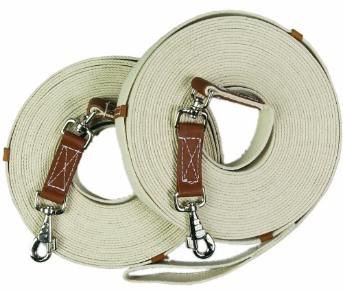 English Riding Supply Centaur Poly-Cotton Web 45ft Equestrian Natural Long Lines