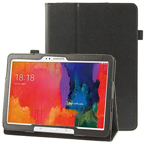 Caja Protectora de la Tableta Funda de Cuero con Textura con Soporte for Galaxy Tab Pro 10.1 / T520 (Azul) (Color : Black)