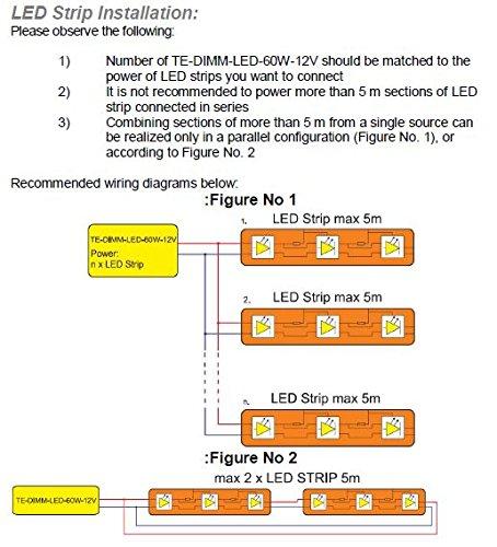 0W – 60W Dimmbar LED Treiber Konstant Voltzahl 12VDC, elektronischer LED-Trafo, Dimmable LED Driver, model TE60W, for 12Vdc LED tapes / strips and LED lamps - 4