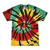 Colortone Tie Dye T-Shirt LG Rasta Web
