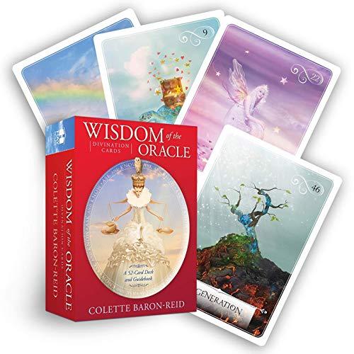 HYXXQQ Sabiduría Mística Tarot Deck,Adivinación Misteriosa Oráculos,52 Cartas De Predicción del Destino