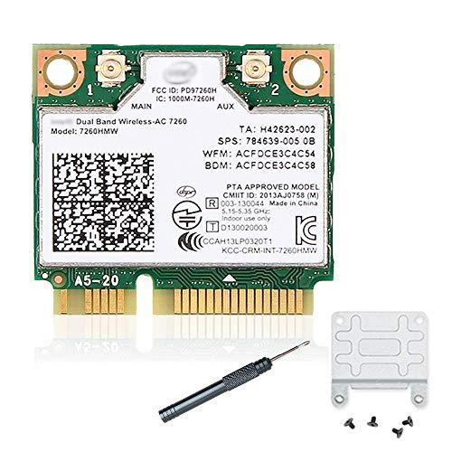 7260HMW 7260ac Wireless LAN PCIe Wi-Fi Card BT4.0 802.11ac Half Mini PCI-E Card