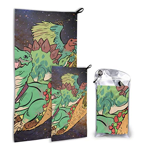 Lsjuee Fast Quick Dry ?¤ Ultra Compact ?¤ Lightweight,Space Taco Cats Microfiber Towels - Gym Travel Camp Backpacking Yo