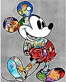 Disney Mickey 5D diamante pintura DIY incrustado punto de cruz diamante pintura set artesanía regalo(23.6x35.4inch)