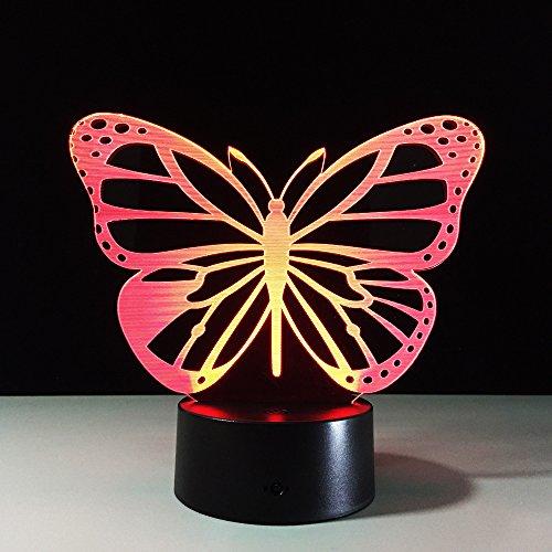 Schmetterling Power Bank und EnfantChambre 3D LED Nachtlicht USB Tischlampe Kinder Geburtstagsgeschenk Nachttisch Dekoration