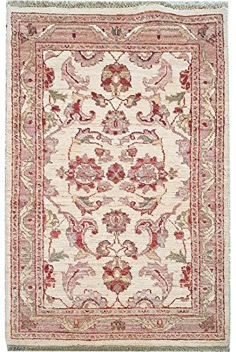 Smart Deal Traditionelle handgeknüpfte Moderne Chobi-Teppiche Elfenbein/Rot 100{8a2295c6e854d49768b62b165fe4041931f6c45384af9fc29d6a30233288e6af} Wolle Perserteppiche Größe (74 x 122)