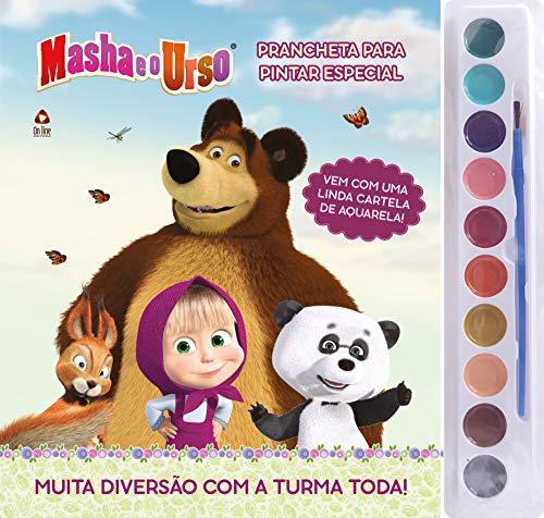 Masha e o Urso: Prancheta Para Pintar Especial