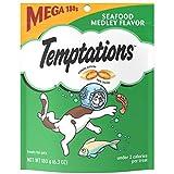 Temptations Classic Cat Treats Seafood Medley Flavor, (10) 6.3 Oz. Pouches