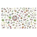 CAOLATOR.Pegatina de Uñas Decoracion para Las Decal DIY de Navidad Imagen Nail Art Stickers Plantilla Uñas Decoración Pegatinas de Arte-Estilo7