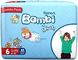 Sanita Bambi Jumbo Pack Size 6, XX-Large, 18+Kg, 40 Count