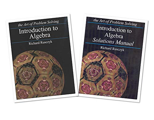 Art of Problem Solving: Introduction to Algebra Books Set (2 Books) - Introduction to Algebra Text,...