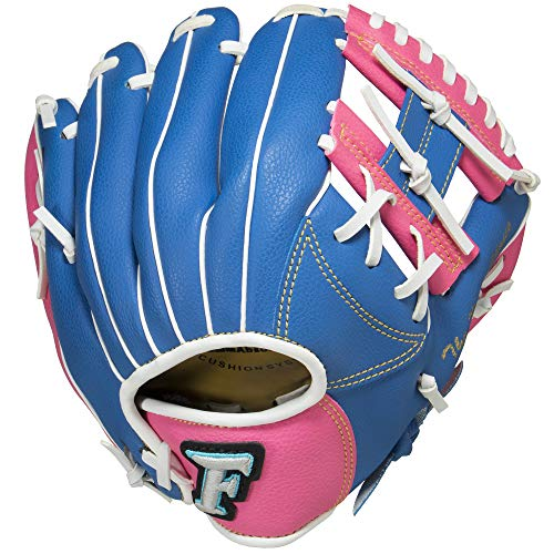 サクライ貿易(SAKURAI) FALCON(ファルコン) 野球 少年軟式用 オールラウンド用 グローブ 号球対応 身長120~130cm位 小学低学年向け FG-1202 ブルー×ピンク