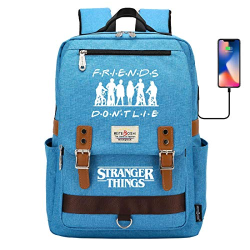 Outdoor Camping Backpack for Boys College Backpack for 15 inch Laptop Tablet Computer Travel Backpack Large Blue