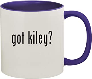 got kiley? - 11oz Ceramic Colored Inside & Handle Coffee Mug, Deep Purple