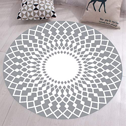 Ommda Alfombras Salon Modernas Redondas Antideslizante Alfombras Vinilicas Geometricas 3D facil Limpieza Lavables Multicolor,SDDT-YXDT01-10,200cm