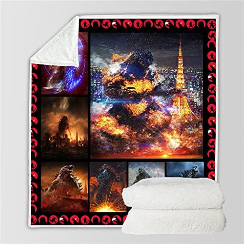 EA-SDN Godzilla Contra King Kong Manta para niños, manta de franela muy suave y cómoda, apta para 2 personas