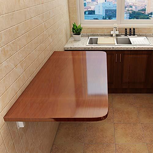 Warooma Wand Montierter Computertisch Drop-Leaf-Tisch Klappbarer Schreibtisch Küchen-Esstisch Laptop-Schreibtisch Computertisch Kindertisch, Platzsparend/Mehrere Größen