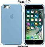 Funda Silicona para iPhone 6 y 6s Silicone Case, Calidad, Textura Suave, Forro Interno Microfibra (Aciano)
