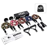 INNSTAR Resistance Bands Set, Adjustable Exercise Bands with Protective Sleeves, Door Anchor, Handles, Ankle Straps & Carry Bag for Resistance Training, Muscle Builder, Home Workouts, Yoga (Rainbow)