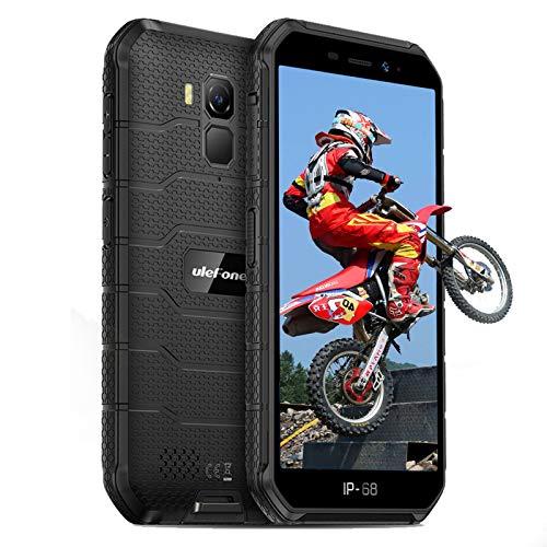 Ulefone Armor X7 Pro Rugged Smartphone Android 10 Cellulari Offerte 4GB+32GB(128GB) 5,0-Pollice HD IP68/IP69K/Dual SIM/GPS/NFC/OTG-Nero