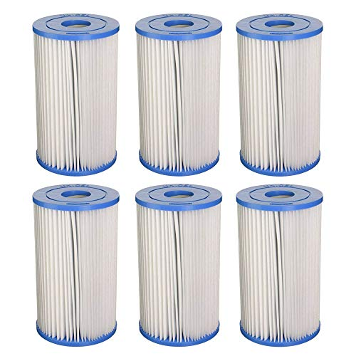 Unicel Swimming Pool/Spa PIN20 Intex Replacement Filter Cartridge C5315 (6 Pack)