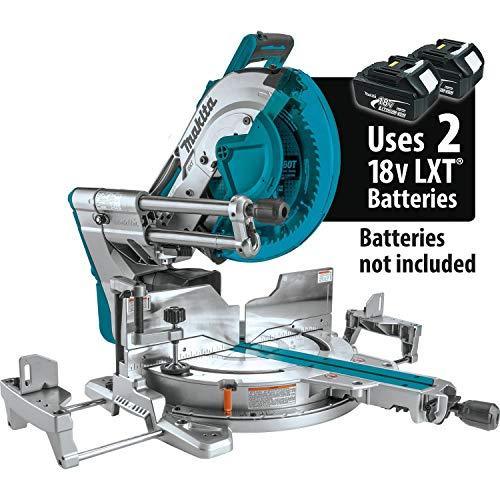 Makita XSL08Z 18V x2 LXT Lithium-Ion (36V) Brushless Cordless 12' Dual-Bevel Sliding Compound Miter Saw, AWS Capable & Laser, Tool Only