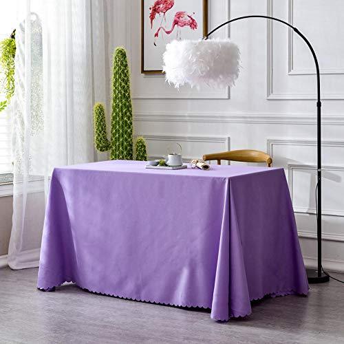 XQSSB Mantel Mesa Rectangular Antimanchas Cubremesa Durable para de Hogar Picnic del Hotel Tienda de Café Un Color 180 × 260cm