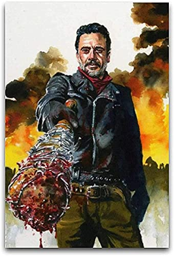 "Mural con Estampado De Arte Cuadro Mural de The Walking Dead, niño Moderno para decoración Familiar PóSter Lienzo Pintura Pared 19.7""x27.6""(50x70cm) Sin Marco"