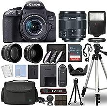 Canon EOS 850D / Rebel T8i Digital SLR Camera Body w/Canon EF-S 18-55mm f/4-5.6 is STM Lens 3 Lens DSLR Kit Bundled with Complete Accessory Bundle + 64GB + Flash + Case & More - International Model