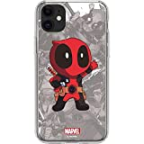 Skinit Clear Phone Case for iPhone 11 - Officially Licensed Marvel/Disney Deadpool Hello Design