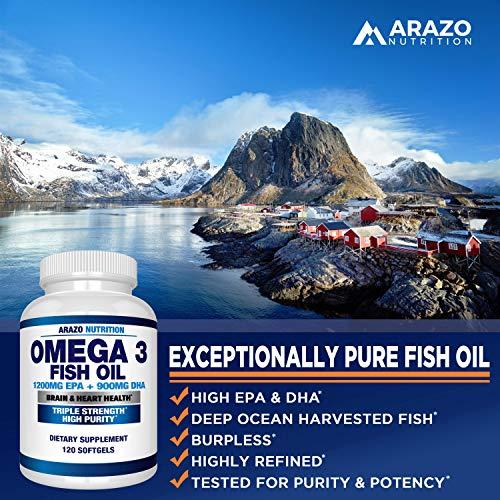 BioScience Nutrition, aceite de pescado Omega 3 de 0.08 oz | EPA alto de 0.04 oz + DHA de 0.03 oz; cápsulas que triplican la fuerza