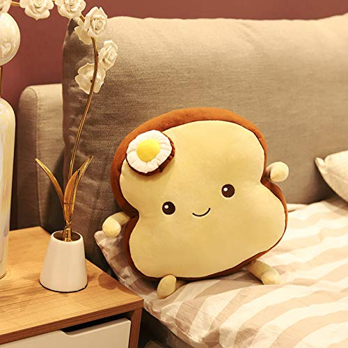 Dalang Creative Sliced Bread Plush Stuffed Toy, Cute Soft Toast plushie, Cute Cushion Bread Slice Pillow for Children Adult Gift Home Bedroom Decoration (B)