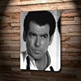 PIERCE BROSNAN - Canvas Print (LARGE A3 - Signed by the
