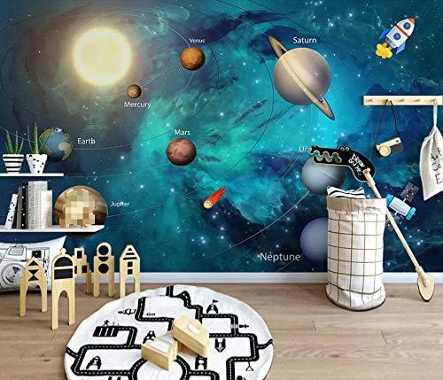 3D Tapete Foto Tapete Handgemaltes Weltall Universum Fototapete 3D Effekt Wandbild Tapeten Wohnzimmer