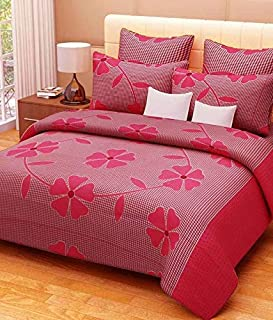 STARnSTYLE Pink Fruity Printed 3D 140 TC Double bedsheet with 2 Pillow Cover,Double bedsheets with 2 Pillow Covers Cotton,bedsheets for Double Bed,Bed Sheets Cotton,Cotton Double bedsheet