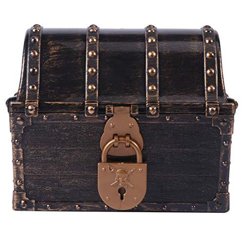 Caja de Juguetes de Cofre Del Tesoro Pirata.