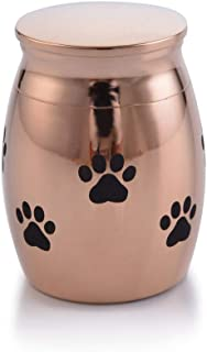 Sunling Small Rose Gold Waterproof Stainless Steel Decorative MemorialKeepsake Cremation Urn for Human Pet Ashes Holder fo...