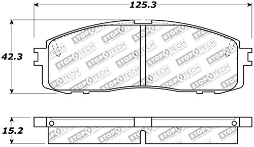 StopTech 309.06220 Sport Brake Pads with Shims