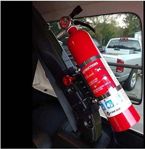 BarBaren Fire Extinguisher Mount Holder Adjustable For Jeep Wrangler TJ JK JKU JL UTVs Polaris RZR Ranger,Home,Boat