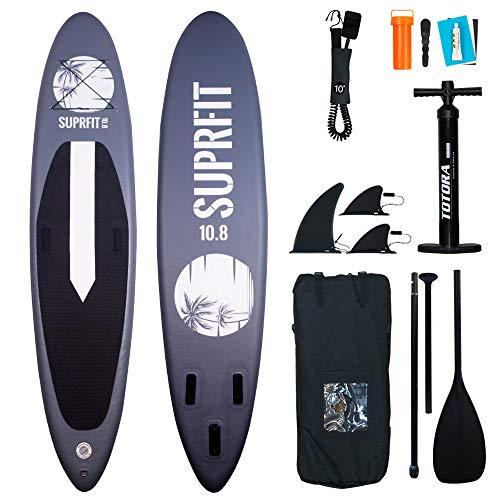 Suprfit SUP Board I Stand up Paddle Board I Komplettset: Paddelboard, Transporttasche,...