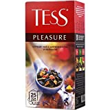 Black Tea Tess Wild Rose  Apple Pleasure Beverages Grocery Gourmet Food 25 Tea Bags
