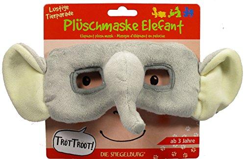Funny Animal Parade Masque éléphant en Peluche, 22 x 22 x 8 cm, modèle # 12232