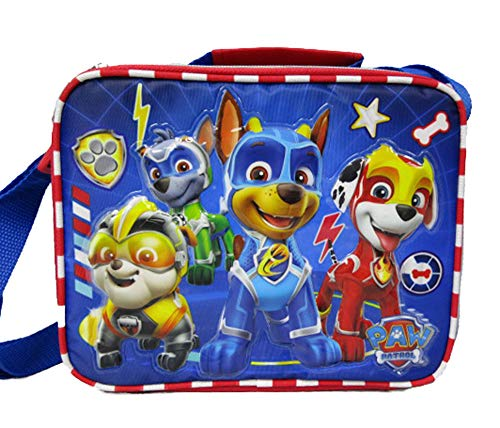 Paw Patrol - Mighty Pups Insulated Lunch Bag with Adjustable Shoulder Straps - Super Hero Puppies - A17307