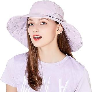Sombreros para El Sol Visera Frío Protección UV Visera para El Sol Señoras Grande Plegable Coche Eléctrico Exterior para Sol (Color : Lavender, Size : 57.5cm)