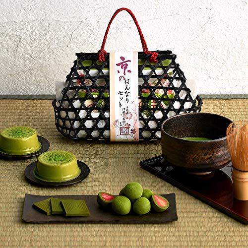伊藤久右衛門 宇治抹茶スイーツ 京のはんなり バッグ ストロベリーチョコ・抹茶プリン・抹茶板チョコ 詰め合わせ