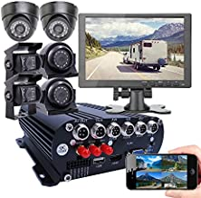 JOINLGO 8 Channel GPS WiFi 4G 1080N AHD 2TB HDD Mobile Vehicle Car DVR MDVR Video Recorder Kit with 8pcs 1080P 2.0MP Car Camera 7 inch Car Monitor (Kit with 6 pics Cameras and 10.1