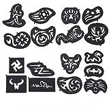 MZP Beauty 25 Stücke Multi-Formen Haar Tattoo Vorlage Haarschneider Carving Formen Schablone Form...