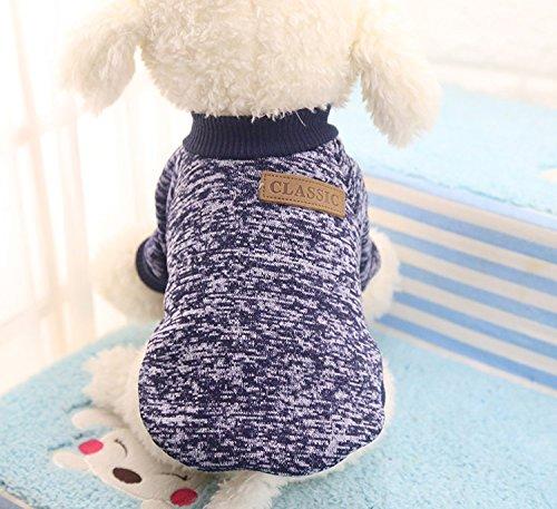 【全5サイズ】ペットウェア 犬猫用 ドッグウェア お洒落 セーター 綿製 暖かい 防寒 コート Tシャツ ペット...